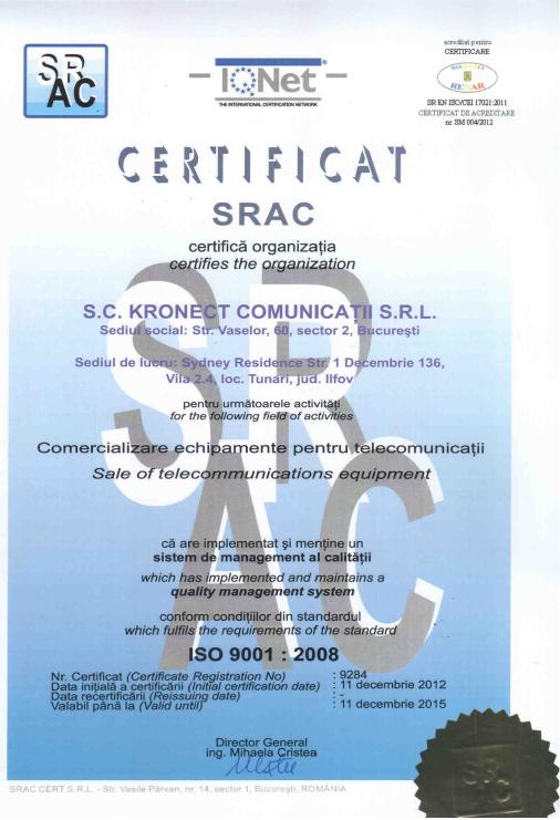 KRONECT SO9001_SRAC