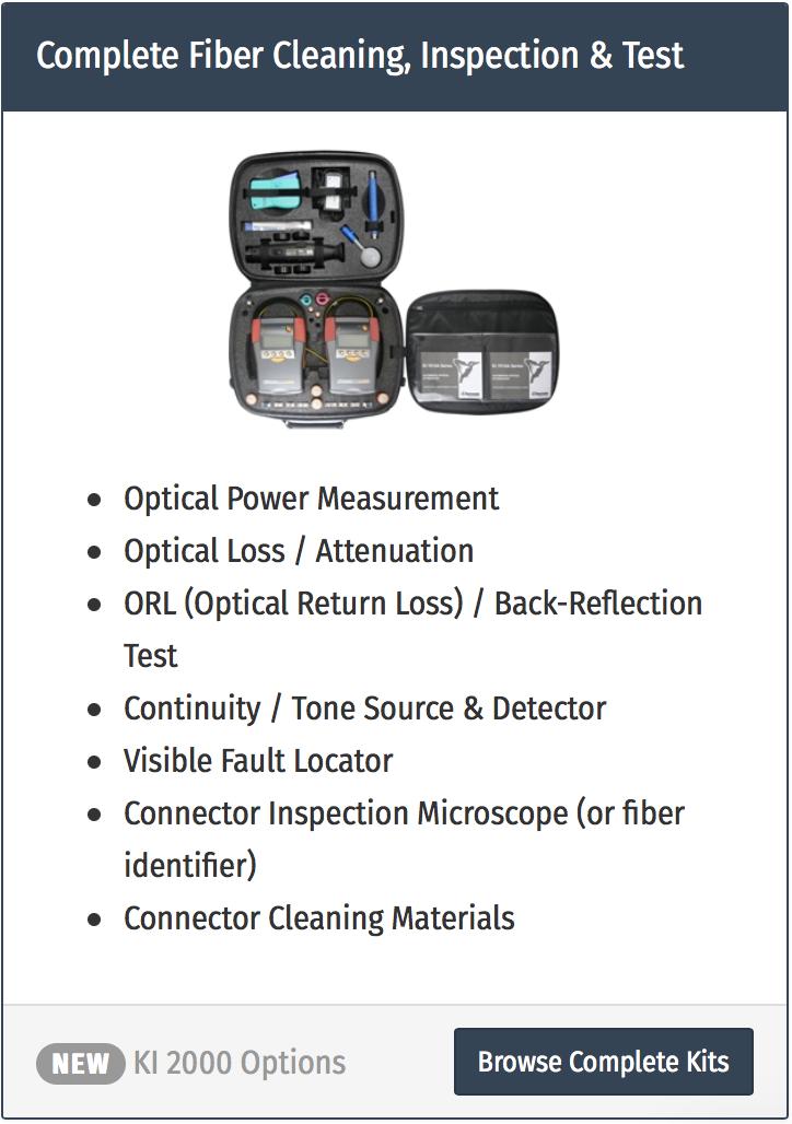 testare fibra optica