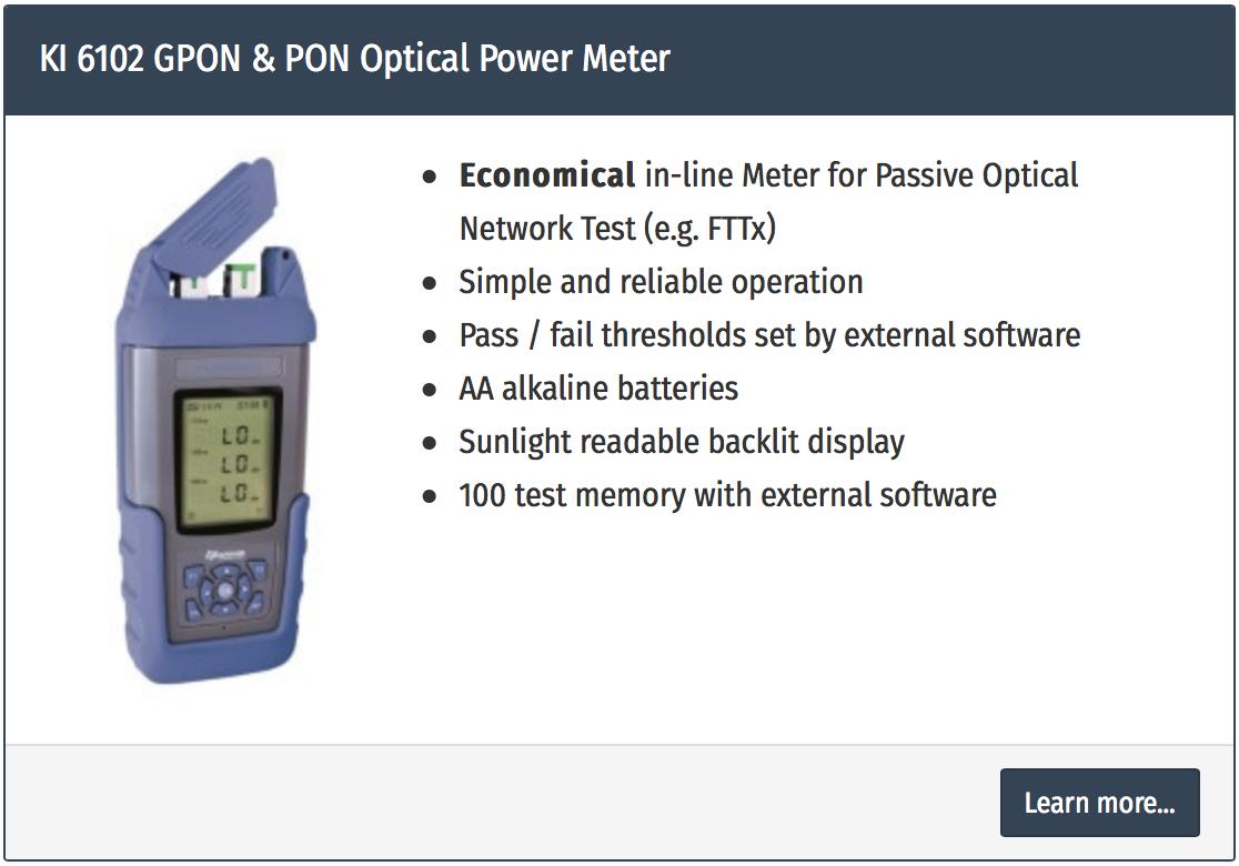 power meter fibra optica