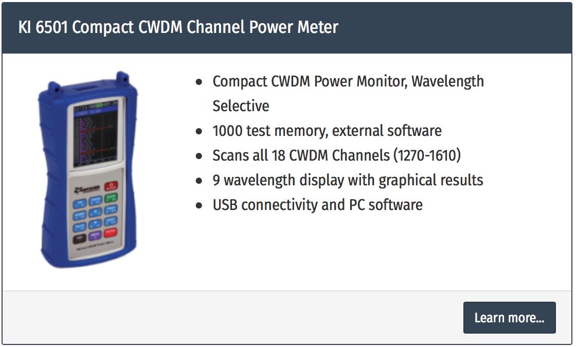 analizor putere fibra optica