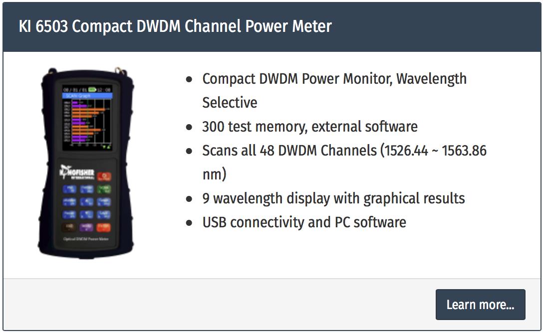 analizor power meter fibra optica