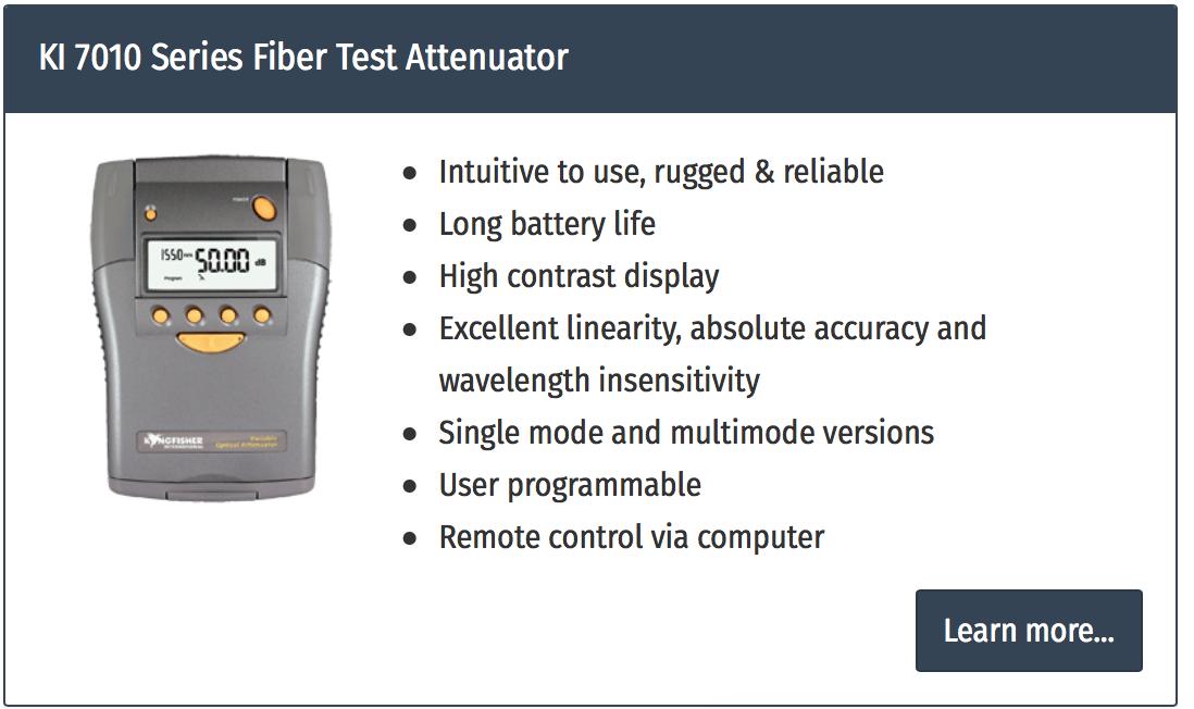 attenuator variabil fibra optica