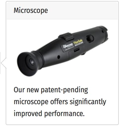 microscop test fibra